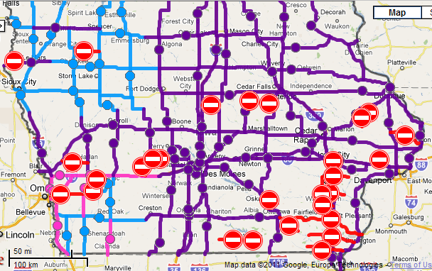 Road Conditions In Iowa Map.Road Conditions Page 3 Iowa Weather Blog