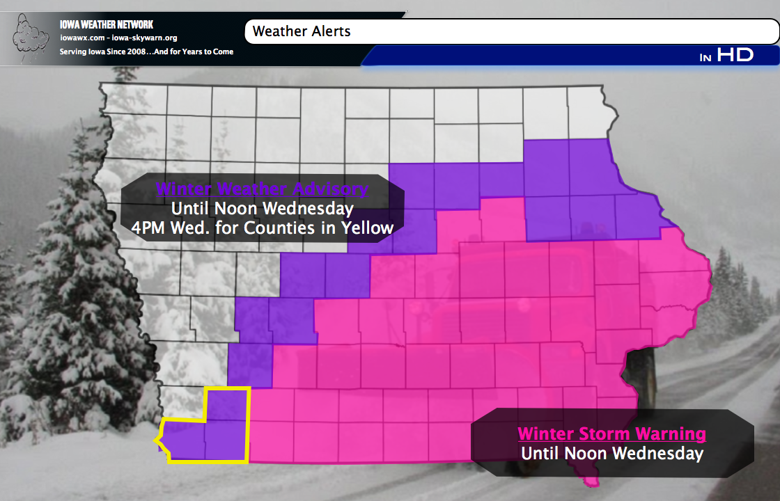 WXUPDATE: Winter Storm Warnings remain until Noon tomorrow