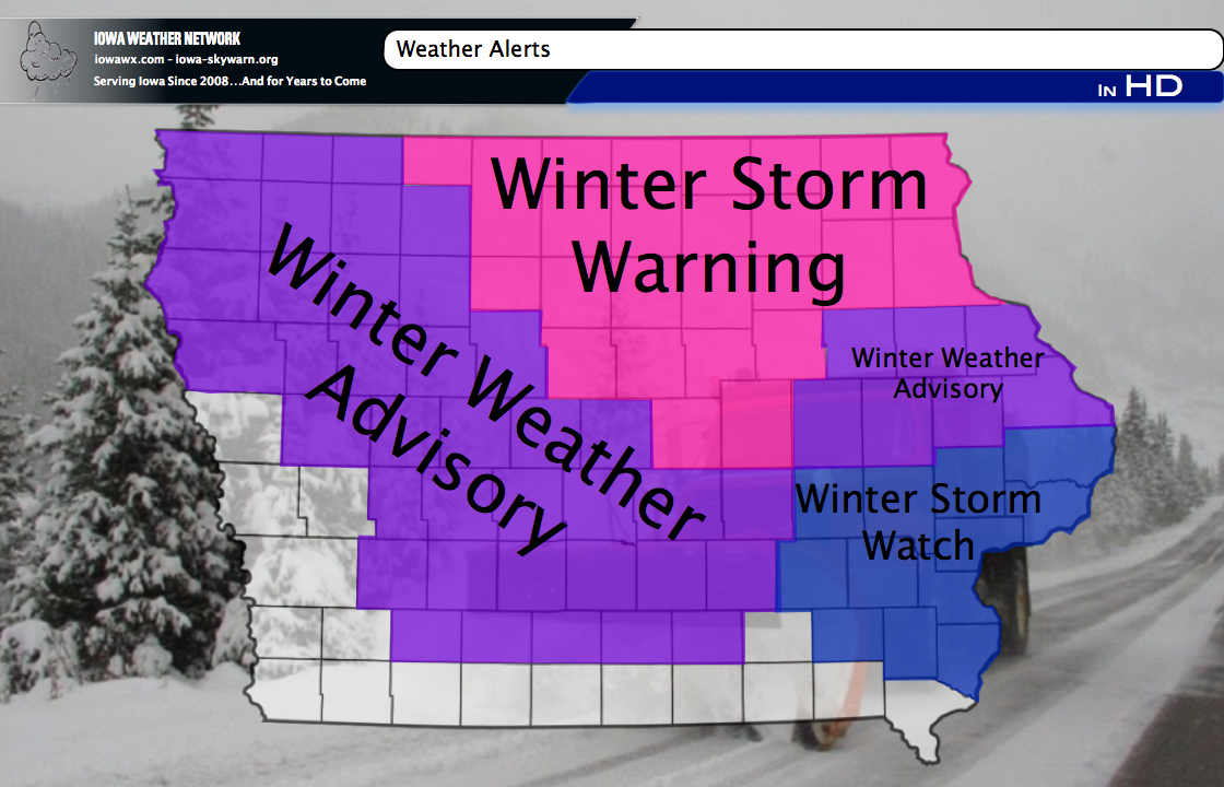 WXALERT: Long-Duration Winter Storm prompts Winter Storm Watches and Warnings