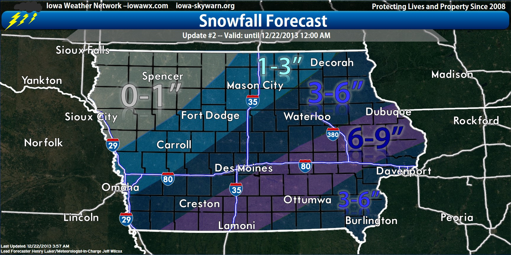 Iowa Winter Weather Predictions Dec 2013 Southeeast Iowa