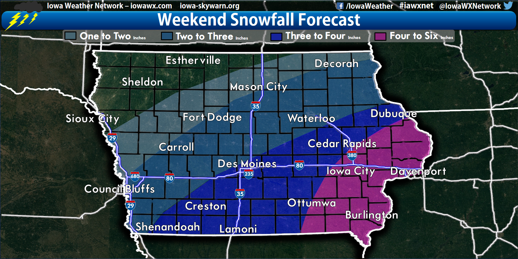 More Winter Weather On the Way For Iowa; Southeastern Iowa under