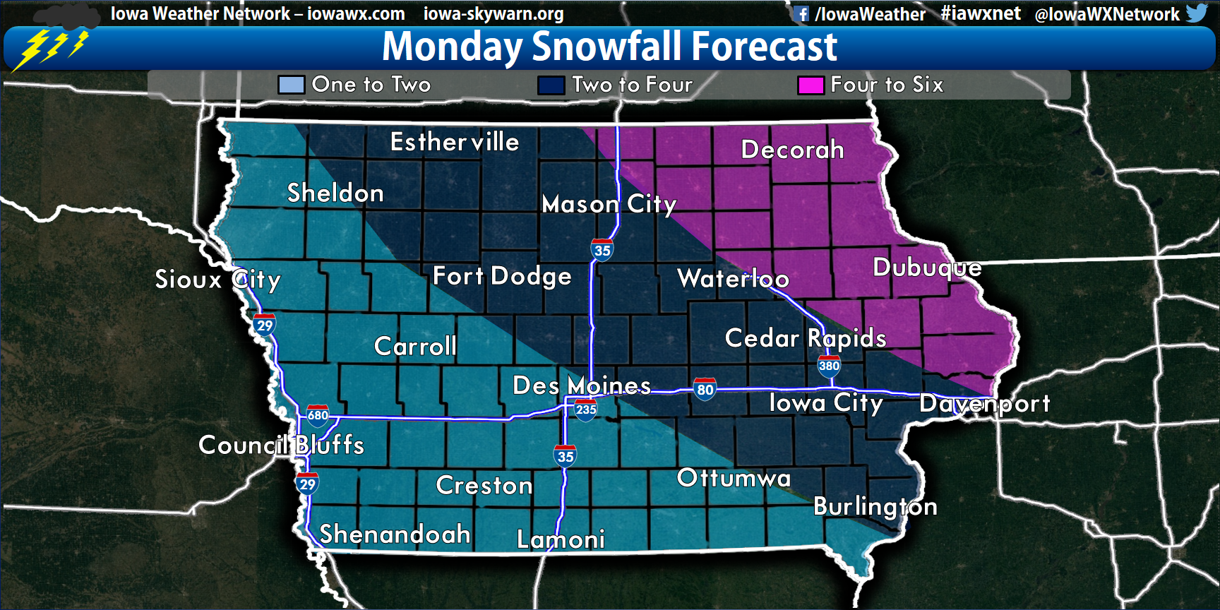 Snow Amounts In Iowa 2013 And 2014